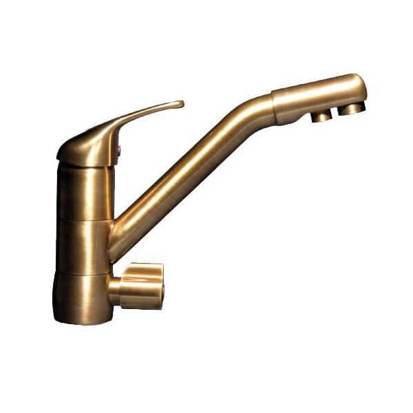 Robinet mitigeur dauphin 3 voies bronze waterconcept 002231 - Robinet 3 voies ...