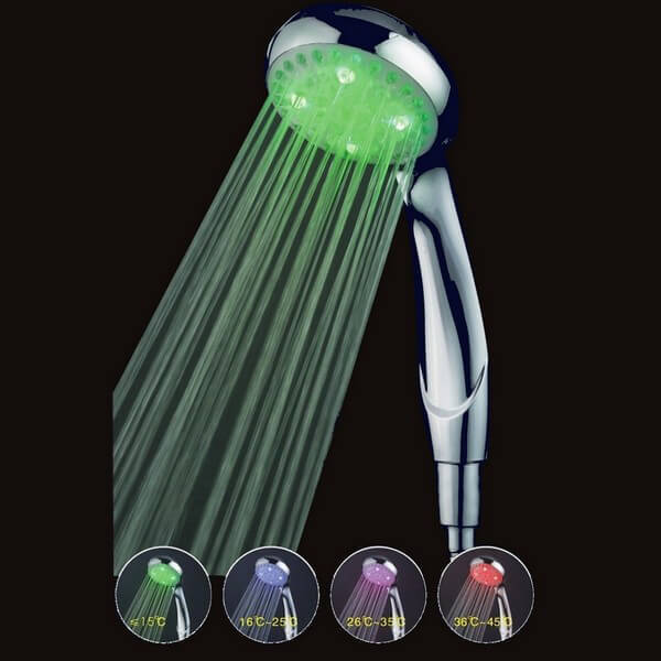 D coration pommeau de douche lumineux led zen arome for Decoration de douche
