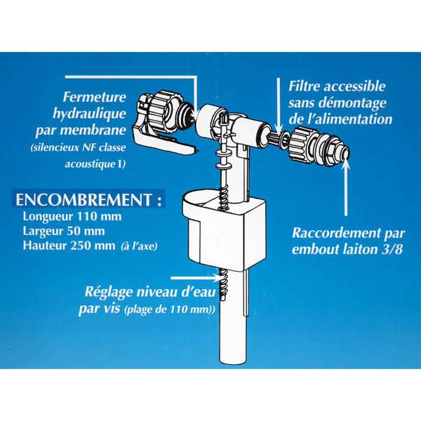 Chasse d 39 eau conomique siamp 002477 - Regler flotteur chasse d eau ...