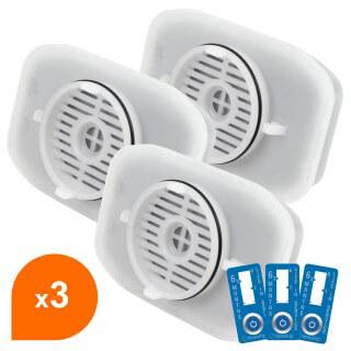 Filtre Crystal Filter® GRV001 CRF4001 compatible Whirlpool® GRV001 / GRV002 (lot de 3)