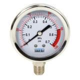 Manomètre inox 0-7 bars - ø 63 mm - Radial / Glycérine