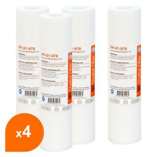 Cartouche PP-01-978 sédiment SPUN 9''7/8 - filtre 1 µm - Crystal Filter® (lot de 4)