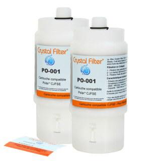 Filtre CJFSE compatible pour filtre sous évier Polar™ FSE / FSE2 - Crystal Filter® PO-001 (lot de 2)