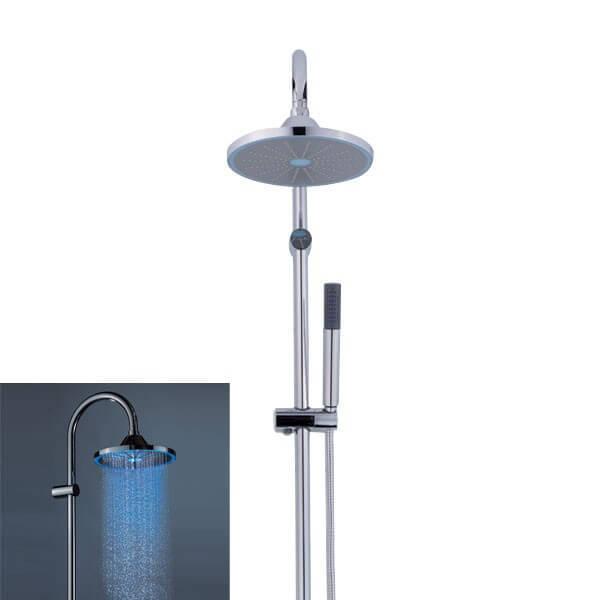 syst me de douche double avec clairage led neoperl 08 3350 97 004022. Black Bedroom Furniture Sets. Home Design Ideas