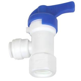 """Vanne fermeture 1/4"""" - 1/4"""" pour réservoir osmoseur Push in"""