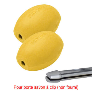 Savon jaune rotatif citron (lot de 2) - Recharge à clip