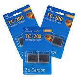 Filtre aquarium TC-200 Carbon - Charbon actif granulés - Aquatlantis (lot de3)