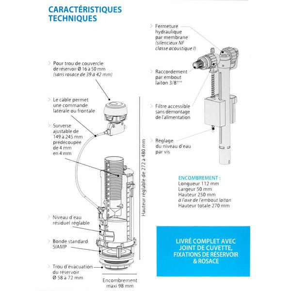 Chasse d 39 eau conomique siamp 002475 - Reglage debit chasse d eau ...