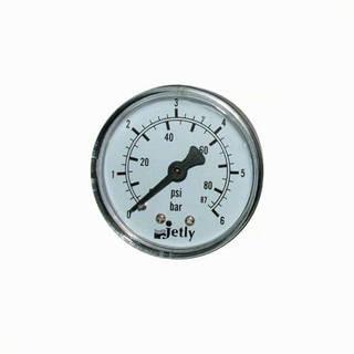 Manomètre plastique - Insert laiton - 0-6 bars ø50 - 1/4'' - Axial / sec